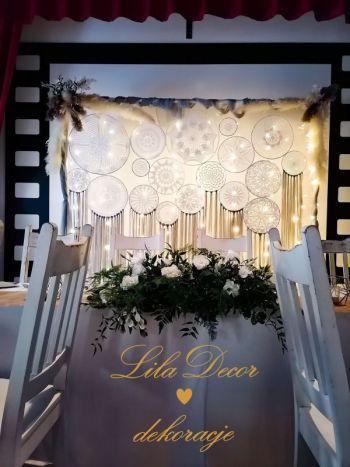LILAdecor dekoracje ,Taniec w chmurach , napis LOVE dekoracja światłem, Dekoracje ślubne Zduńska Wola