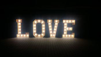 Napis LOVE XXL 150cm, Napis Love Kościan