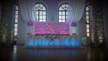 Dekoracja Światłem-Napis LOVE-Ścianka-Oświetlenie-Ciężki dym, Dekoracje światłem Warka