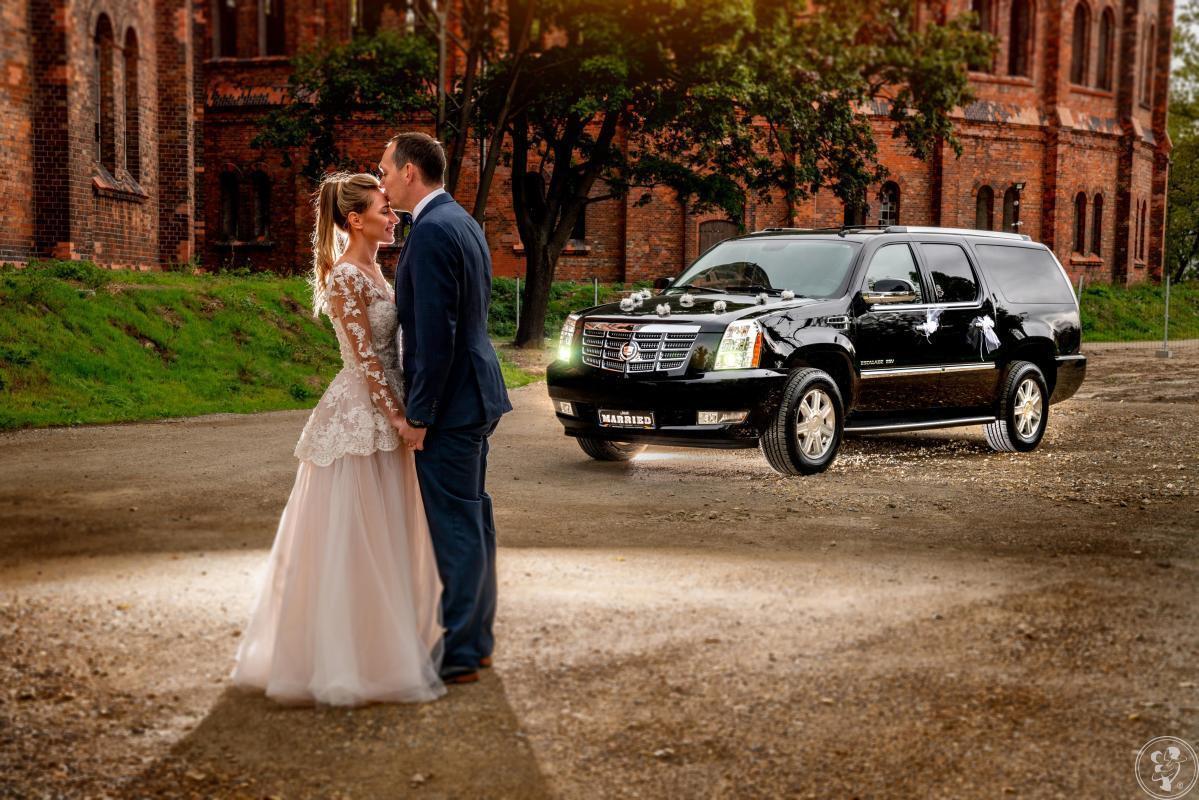 Auto do ślubu Cadillac Escalade V8 czarny przewóz VIP Polska i Europa, Pruszków - zdjęcie 1