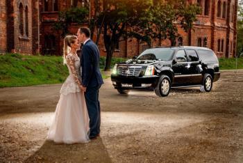 Auto do ślubu Cadillac Escalade V8 czarny przewóz VIP Polska i Europa, Samochód, auto do ślubu, limuzyna Kozienice