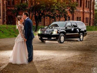 Auto do ślubu Cadillac Escalade V8 czarny przewóz VIP Polska i Europa,  Pruszków