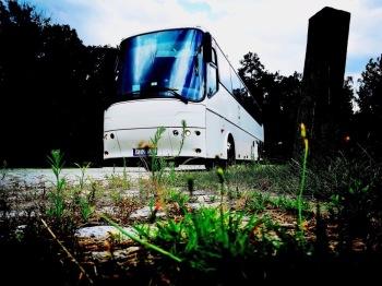 Piękny biały autokar do Ślubu w doskonałej cenie!, Wynajem busów Rychwał