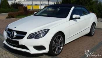 Mercedes E220 Cabrio Kabriolet Biały, Samochód, auto do ślubu, limuzyna Nowa Sarzyna