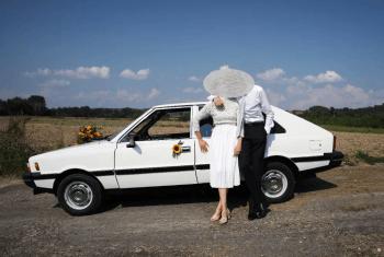 Samochód do Ślubu - Piękny Biały Polonez Borewicz, Samochód, auto do ślubu, limuzyna Boguchwała