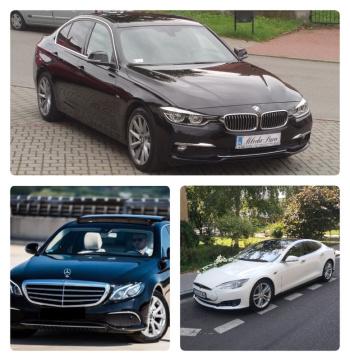 Transport Pary Młodej Mercedes, Tesla, BMW, Rolls Royce, Samochód, auto do ślubu, limuzyna Żabno