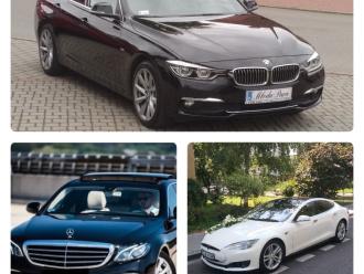 Transport Pary Młodej Mercedes, Tesla, BMW, Rolls Royce,  Kraków
