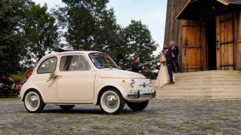 Fiat 500 F 1969 auto do ślubu, Samochód, auto do ślubu, limuzyna Czchów