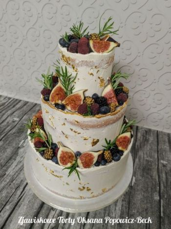 Pracownia Zjawiskowe Torty - weselne, okolicznościowe, wyjątkowe, Tort weselny Ustka