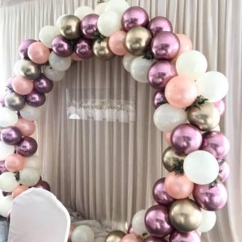 Girlandy z balonów, ścianki do zdjęć, balony z helem, Dekoracje ślubne Nisko