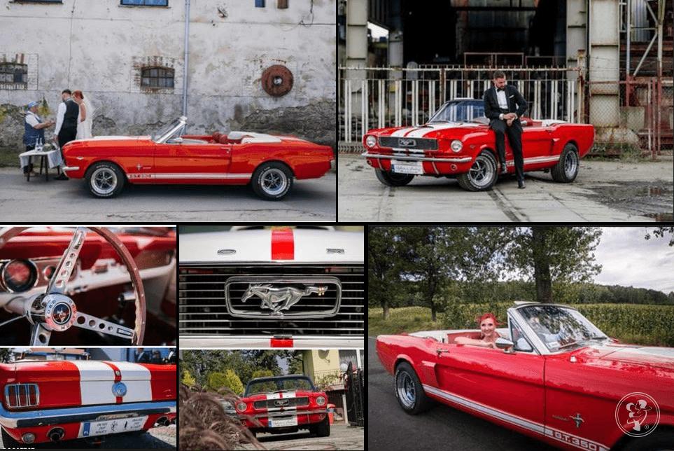 Czerwony Ford Mustang do ślubu, Wrocław - zdjęcie 1