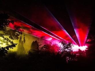 Pokaz laserowy z Firmą FIRE SHOW - pokazy laserowe i multimedialne.,  Lubań
