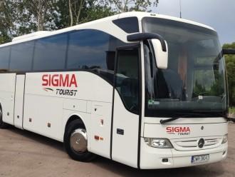 limuzyna autokar autobus bus przewóz transport gości auto Sigmatourist,  Katowice