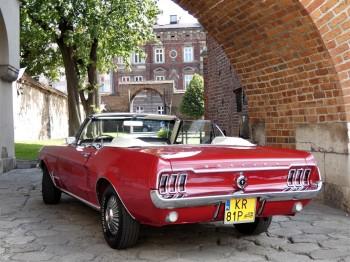 Retro FORD MUSTANG 1967 kabriolet do ślubu