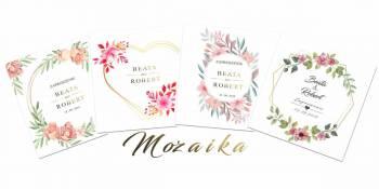 Mozaika - zaproszenia na ślub, Zaproszenia ślubne Krosno