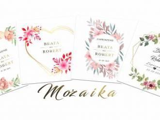 Mozaika - zaproszenia na ślub,  Krosno