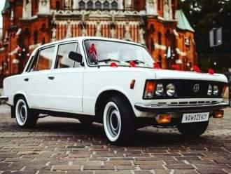 Klasykiem - Biały Fiat 125P do ślubu,  Kraków