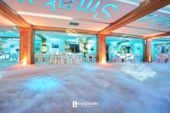 Dekoracja sali światłem - oświetlenie LED - ruchome głowy - LOVE, Dekoracje światłem Nowy Targ