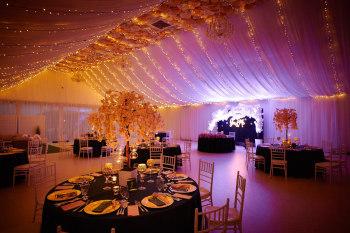 Dekoracja światłem sali weselnej eventu studniówki, Dekoracje światłem Rzeszów