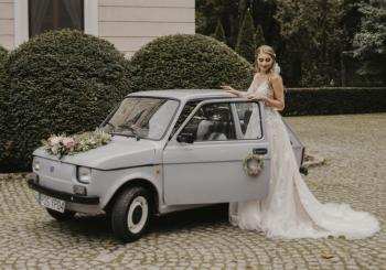 FOTO MAGIA FIAT 126p, Samochód, auto do ślubu, limuzyna Turek