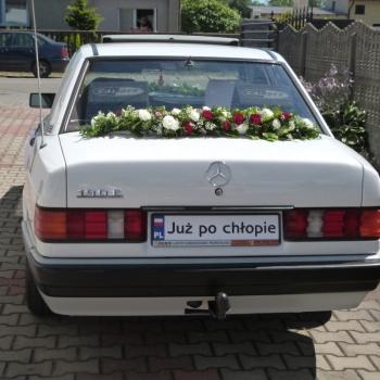 Samochód do ślubu: BIAŁY MERCEDES 190 ODRESTAUROWANY PAWEŁ, Samochód, auto do ślubu, limuzyna Siemianowice Śląskie