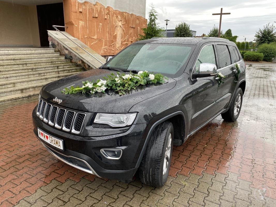JEEP GRAND CHEROKEE duże i luksusowe auto do ślubu , białe skóry, Poznań - zdjęcie 1