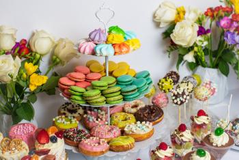 Tort weselny, ślubny , ciasta weselne, słodki kącik , candy bar, Tort weselny Wadowice