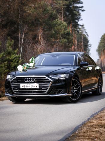 Samochód do ślubu Audi A8 Long 2020, Samochód, auto do ślubu, limuzyna Przecław