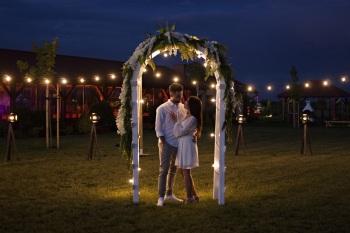 Dekoracje dworu PLENER | GIRLANDY | Brama Weselna | Ścianka | LOVE, Dekoracje ślubne Bojanowo