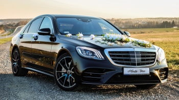 Mercedes S-klasa AMG do ślubu.