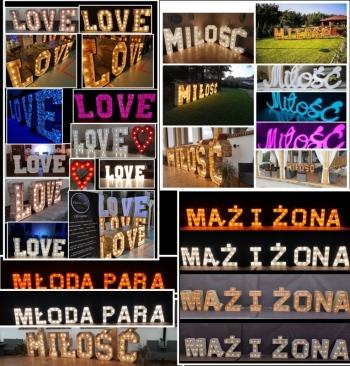 Napis love, serce , Miłość, ciężki dym, wytwornica banie, candy bar, Napis Love Pobiedziska