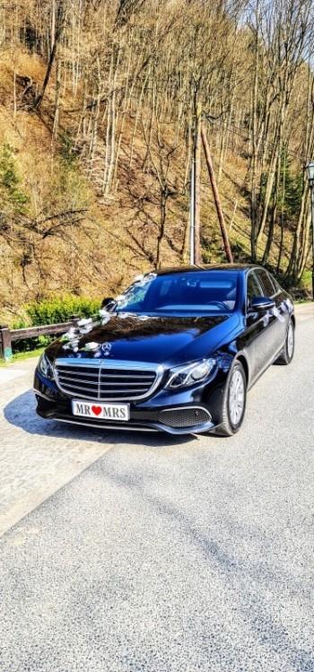 Mercedes Czarny Brązowa Skóra do Ślubu., Samochód, auto do ślubu, limuzyna Alwernia