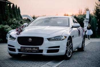 Dreamwedding-art biała perła jaguar xe 3.0 Premium biały 340 KM skóra, Samochód, auto do ślubu, limuzyna Alwernia