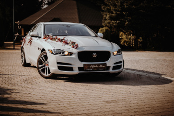 Dreamwedding-art biała perła jaguar xe 3.0 Premium biały 340 KM skóra