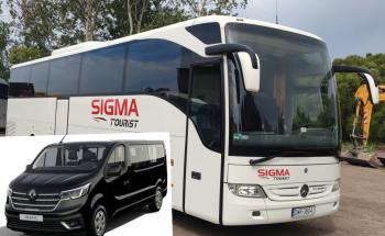 SIGMATOURIST autokary limuzyna autokar bus przewóz transport autobus, Wynajem busów Bytom