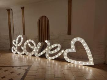 FOTOBUDKA LED / NAPIS LOVE