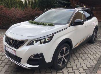 Samochód Auto do Ślubu Peugeot 3008 białe, Samochód, auto do ślubu, limuzyna Kępno