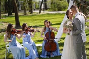 Love and Music-najpiękniejsza muzyka na ślub KWARTET SMYCZKOWY , HARFA, Oprawa muzyczna ślubu Grójec
