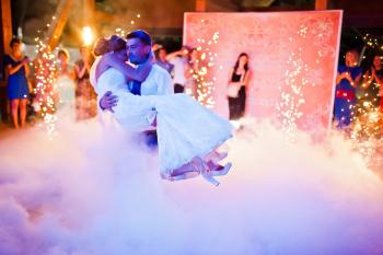 Ciężki dym - Białe motylki - fontanny iskier  - Tryton efekty, Ciężki dym Konin