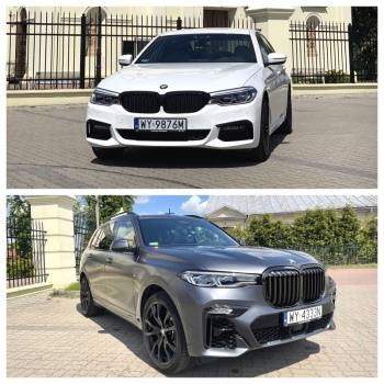 Zawiozę do ślubu:BMW X7 oraz BMW 5 G30, Samochód, auto do ślubu, limuzyna Kałuszyn