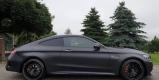 Czarny Mercedes C43 AMG Coupe do ślubu wynajem samochód na wesele ślub, Poznań - zdjęcie 3
