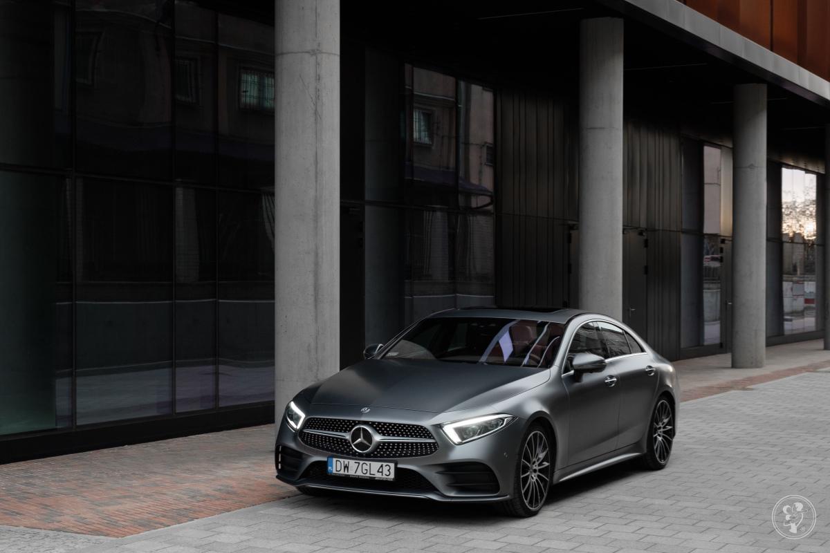 Luksusowy, 340-konny Mercedes-Benz CLS z pakietem AMG-satynowy grafit, Wrocław - zdjęcie 1