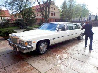 Zabytkowa *biała* Limuzyna Trómiasto! Cadillac rodem z filmu - unikaln, Samochód, auto do ślubu, limuzyna Czersk