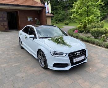 Piękne 300-konne Audi / Duży wybór dekoracji / Transport gości, Samochód, auto do ślubu, limuzyna Bielsko-Biała