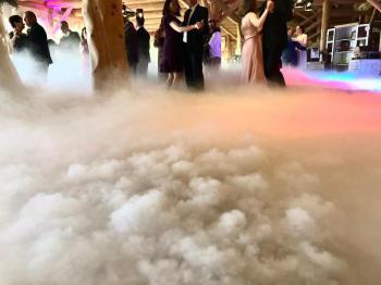 Ciężki Dym Taniec w chmurach gęsta chmura z wytwornicy na CO2, Ciężki dym Sułkowice