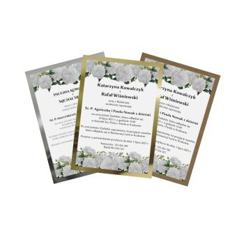 Wedin ❤ - ładne zaproszenia za rozsądną cenę, Zaproszenia ślubne Krosno