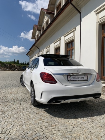 Piękny Mercedes do ślubu oraz Porsche, Samochód, auto do ślubu, limuzyna Czchów