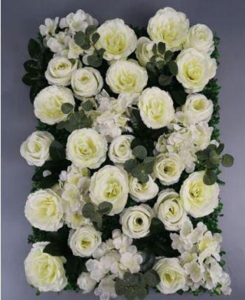 Ścianka kwiatowa - Tło za Młodą Parą - Róże - Dekoracja, Dekoracje ślubne Nowe