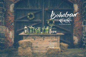 BOHOBAR-barmani na wesele, rustykalny bar, wesele BOHO, BARBOHO, Barman na wesele Prabuty