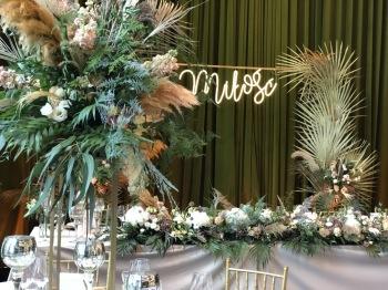 Niebieskie Drzwi- dekoracje aranżacje weselne, wystrój sal, florystyka, Dekoracje ślubne Kołobrzeg